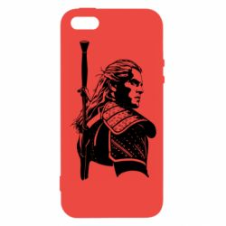 Чехол для iPhone5/5S/SE Monochrome witcher