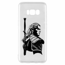 Чехол для Samsung S8 Monochrome witcher