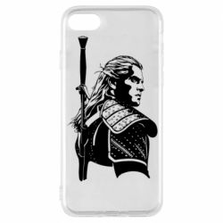 Чехол для iPhone 8 Monochrome witcher