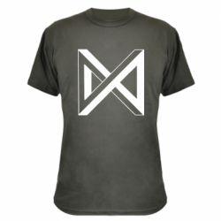 Камуфляжна футболка Monsta x simbol