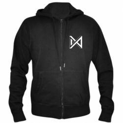 Чоловіча толстовка на блискавці Monsta x simbol