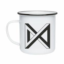 Кружка емальована Monsta x simbol