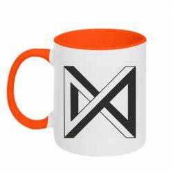 Кружка двоколірна 320ml Monsta x simbol