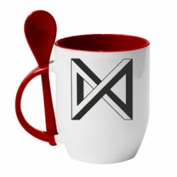 Кружка з керамічною ложкою Monsta x simbol