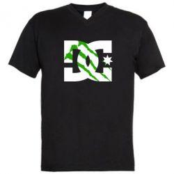Мужская футболка  с V-образным вырезом Monster DC - FatLine