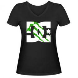 Женская футболка с V-образным вырезом Monster DC - FatLine
