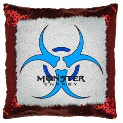 Подушка-хамелеон Monster Energy Biohazard