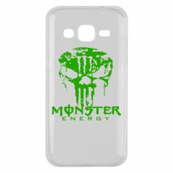 Чехол для Samsung J2 2015 Monster Energy Череп - FatLine