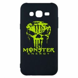 Чехол для Samsung J5 2015 Monster Energy Череп - FatLine