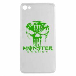 Чехол для Meizu U20 Monster Energy Череп - FatLine