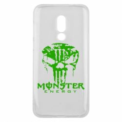 Чехол для Meizu 16 Monster Energy Череп - FatLine