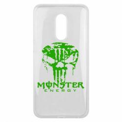 Чехол для Meizu 16 plus Monster Energy Череп - FatLine