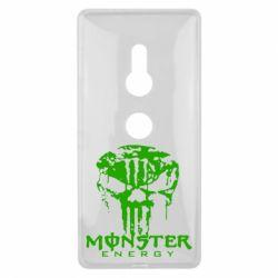 Купить Чехол для Sony Xperia XZ2 Monster Energy Череп, FatLine
