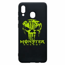 Чохол для Samsung A20 Monster Energy Череп