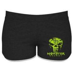 Женские шорты Monster Energy Череп - FatLine