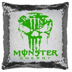 Подушка-хамелеон Monster Energy Череп