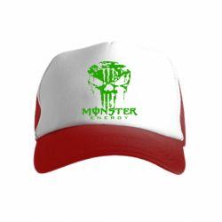 Детская кепка-тракер Monster Energy Череп