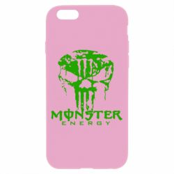 Чехол для iPhone 6/6S Monster Energy Череп - FatLine