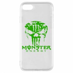 Чехол для iPhone 8 Monster Energy Череп - FatLine