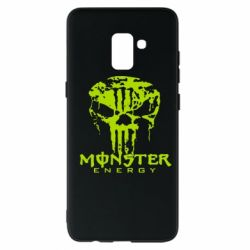 Чехол для Samsung A8+ 2018 Monster Energy Череп - FatLine