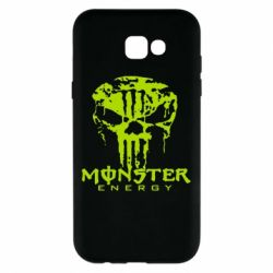 Чехол для Samsung A7 2017 Monster Energy Череп - FatLine