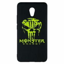 Чехол для Meizu M5 Note Monster Energy Череп - FatLine