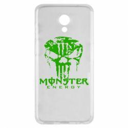 Чехол для Meizu M6s Monster Energy Череп - FatLine