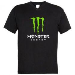 Мужская футболка  с V-образным вырезом Monster Energy Classic - FatLine