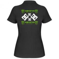 Женская футболка поло Monster Energy DC Logo - FatLine