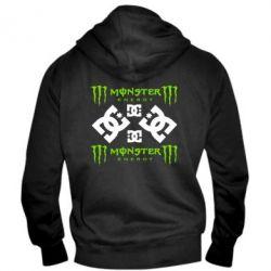 Мужская толстовка на молнии Monster Energy DC Logo - FatLine