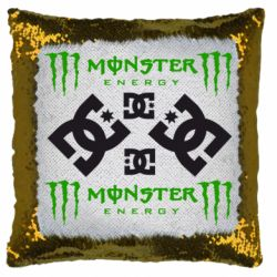 Подушка-хамелеон Monster Energy DC Logo