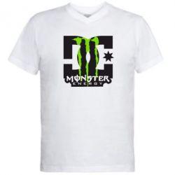 Мужская футболка  с V-образным вырезом Monster Energy DC - FatLine