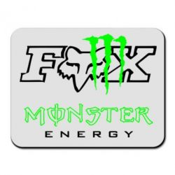 Коврик для мыши Monster Energy Fox Logo - FatLine