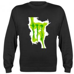 Реглан (свитшот) Monster Energy green - FatLine