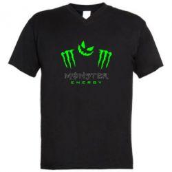 Мужская футболка  с V-образным вырезом Monster Energy Halloween - FatLine