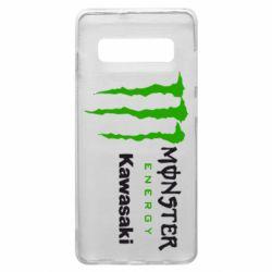 Чохол для Samsung S10+ Monster Energy Kawasaki