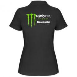 Женская футболка поло Monster Energy Kawasaki - FatLine