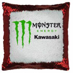 Подушка-хамелеон Monster Energy Kawasaki