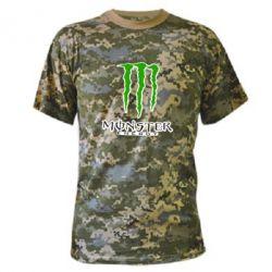 Камуфляжная футболка Monster Energy Logo - FatLine