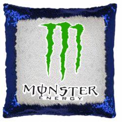 Подушка-хамелеон Monster Energy Logo