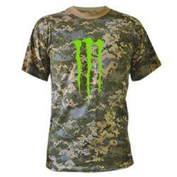 Камуфляжная футболка Monster Energy Stripes 2 - FatLine