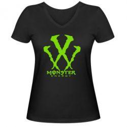 Женская футболка с V-образным вырезом Monster Energy W - FatLine