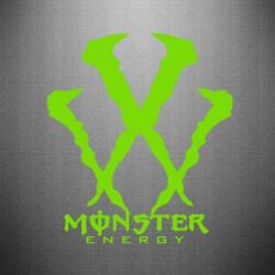 Наклейка Monster Energy W - FatLine