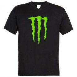 Мужская футболка  с V-образным вырезом Monster Lines - FatLine