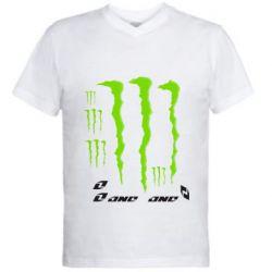 Мужская футболка  с V-образным вырезом Monster One - FatLine