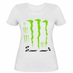 Женская футболка с V-образным вырезом Monster One - FatLine