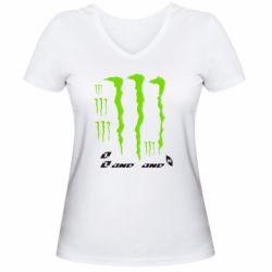 Женская футболка с V-образным вырезом Monster One