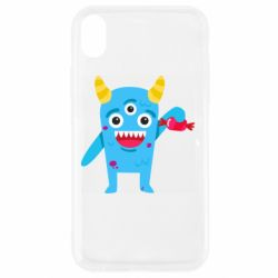 Чехол для iPhone XR Monster with a candy