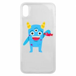 Чехол для iPhone Xs Max Monster with a candy