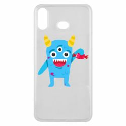 Чехол для Samsung A6s Monster with a candy